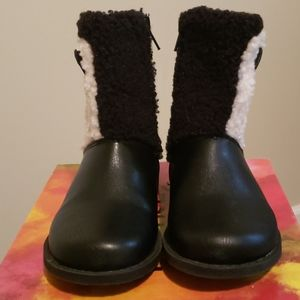 Toddler Black Leather Boots